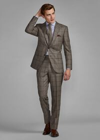 Wool Plaid Classic Shoulder Suit, thumbnail 4