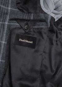 Grey Plaid Wool Sport Jacket, thumbnail 4