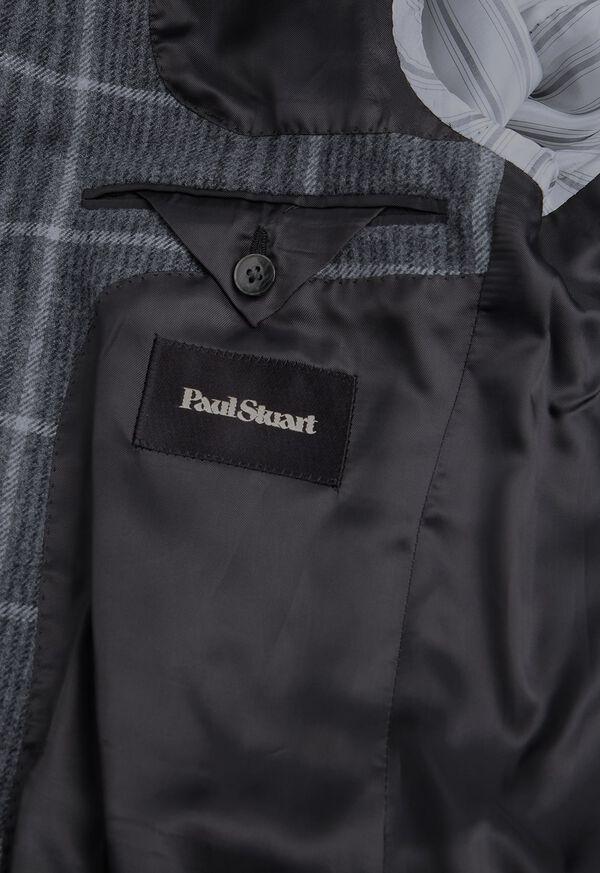 Grey Plaid Wool Sport Jacket, image 4