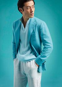 Light Blue Cashmere Soft Jacket, thumbnail 2