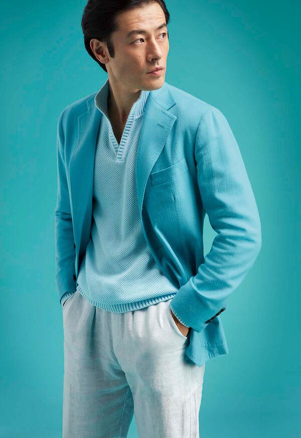 Light Blue Cashmere Soft Jacket, image 2