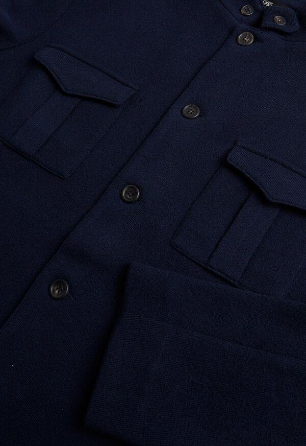 Navy Nehru Knit Jacket, image 3
