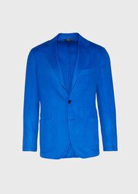 Royal Blue Cashmere Soft Jacket, thumbnail 1