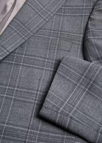 Tonal Plaid Wool Jacket, thumbnail 2