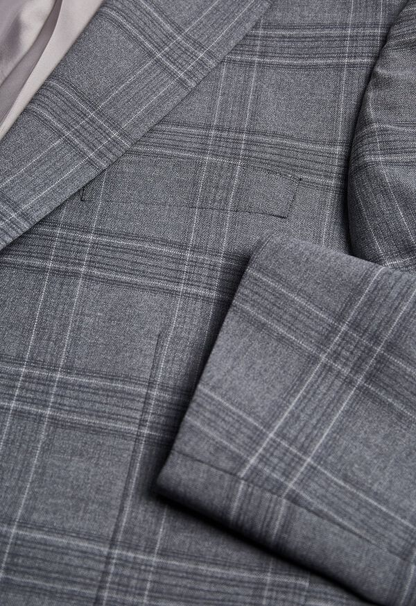 Tonal Plaid Wool Jacket, image 2