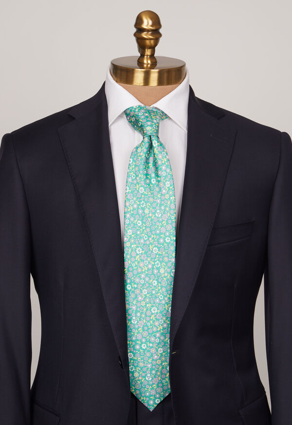 Silk Summer Floral Tie, image 2