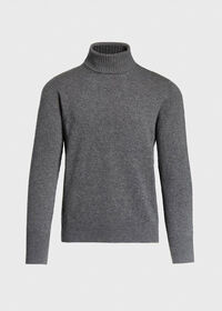Classic Cashmere Double Ply Turtleneck Sweater, thumbnail 1