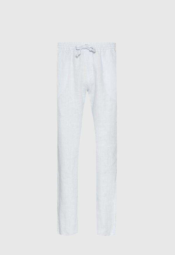 Drawstring Washed Linen Pant, image 2