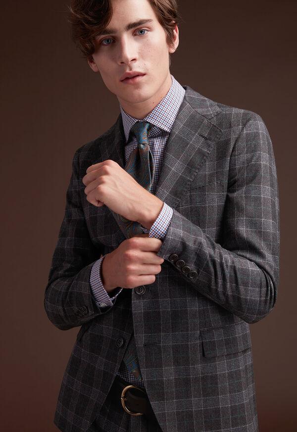 Grey Plaid Wool Suit, image 10