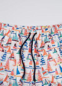 Multi Color Sail Boat Swim Shorts, thumbnail 2