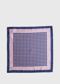 Two Color Houndstooth Pocket Square, thumbnail 2