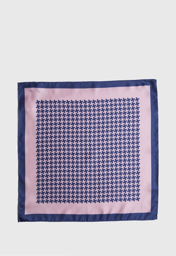 Two Color Houndstooth Pocket Square, image 2
