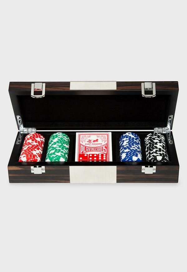 Matte Ebony 100 Chip Poker Set, image 1