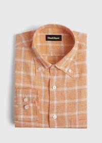 Linen Windowpane Sport Shirt, thumbnail 1