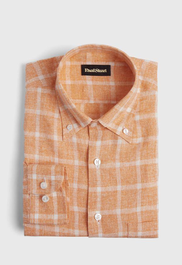 Linen Windowpane Sport Shirt, image 1