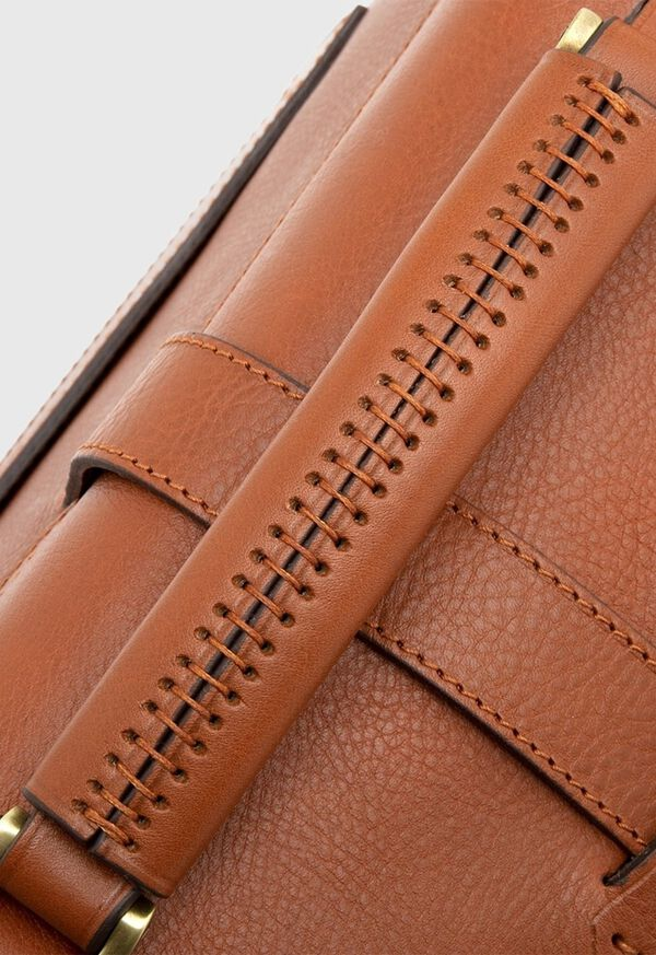 Bridle Leather Briefcase with Shoulder Strap, image 6