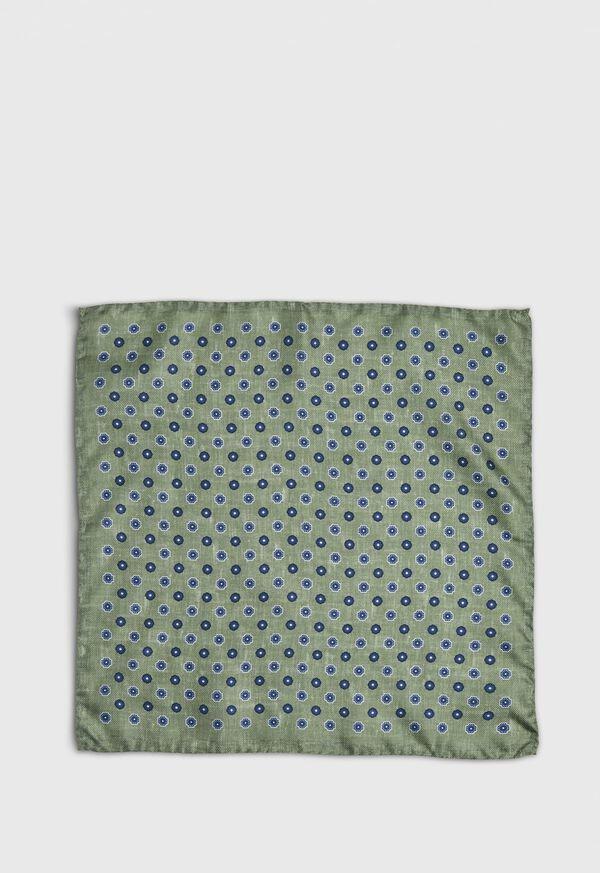Medallion Silk Pocket Square, image 2