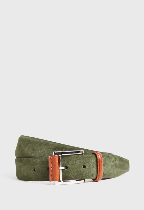 35 MM Suede With Leather Roller Buckle, image 1
