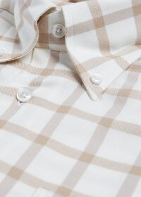Windowpane Brushed Flannel Sport Shirt, thumbnail 2