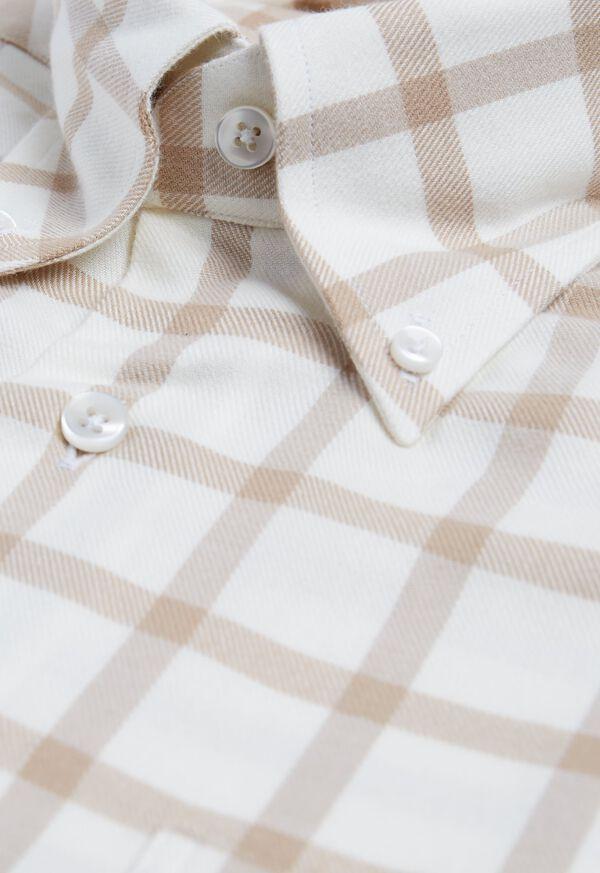 Windowpane Brushed Flannel Sport Shirt, image 2