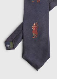 Navy Bagpiper Silk Tie, thumbnail 2
