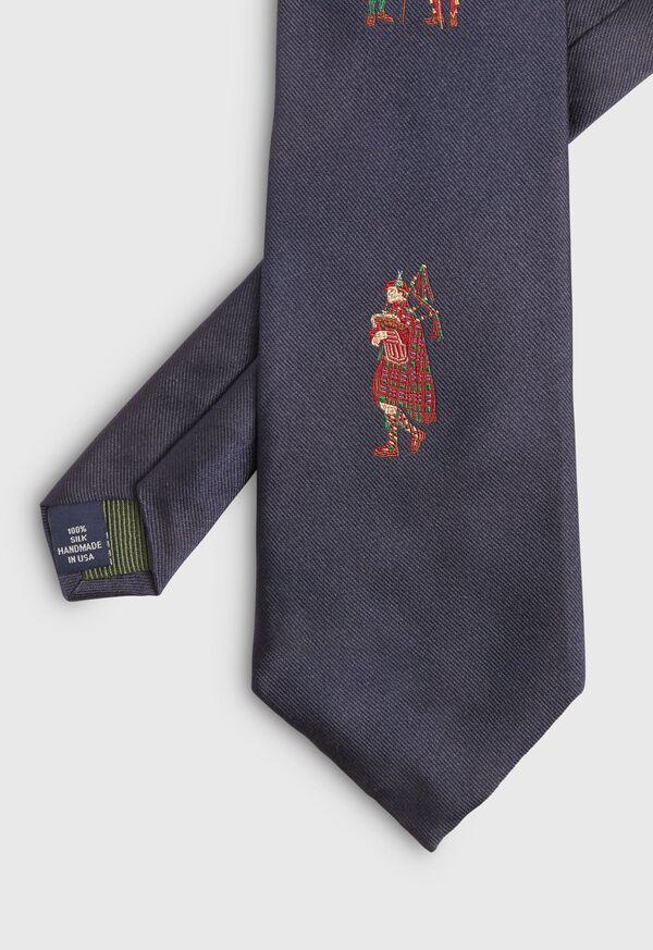 Navy Bagpiper Silk Tie, image 2