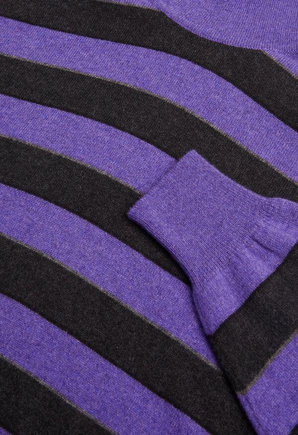 Cashmere Regimental Stripe Turtleneck, image 2