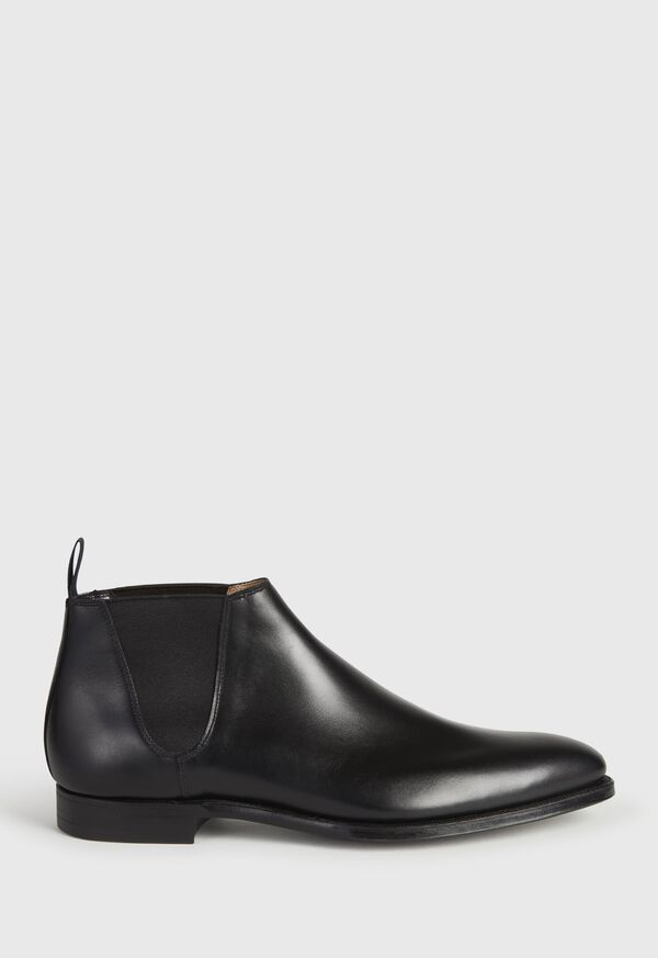 Black leather Half Chelsea Boot