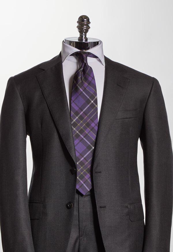 Silk Tartan Print Tie, image 2
