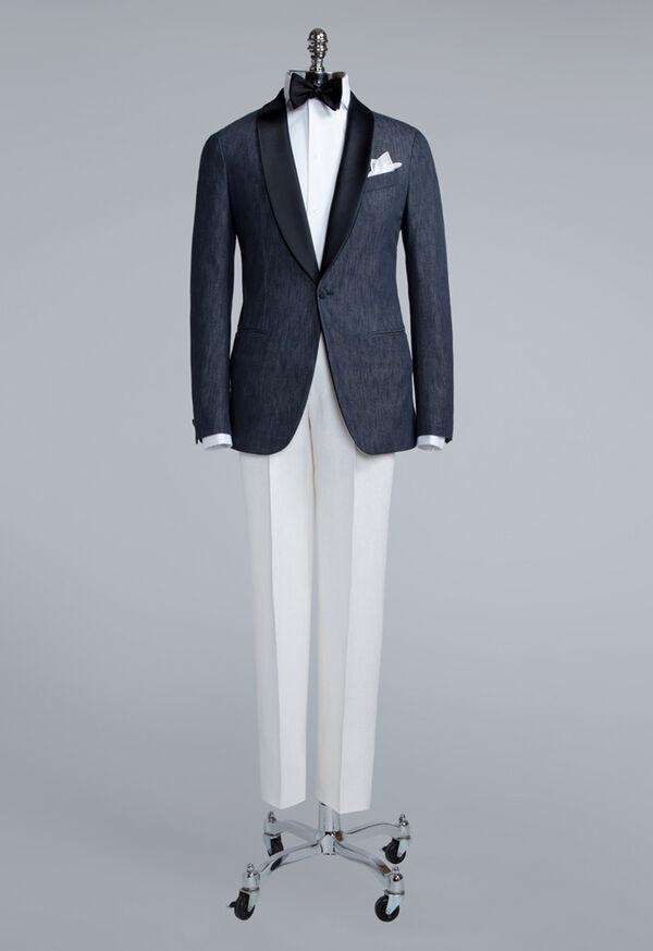 Denim Single Breasted Formal Jacket, image 5