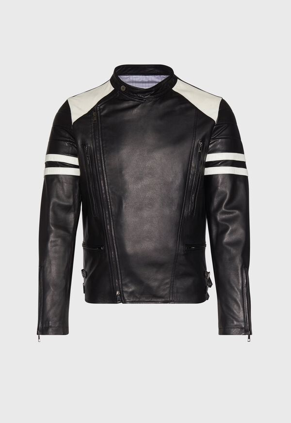 Black Leather Motorcycle Jacket, image 1