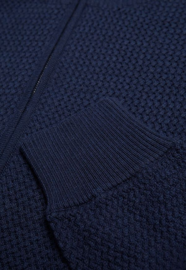 Pique Full Zip Sweater, image 2