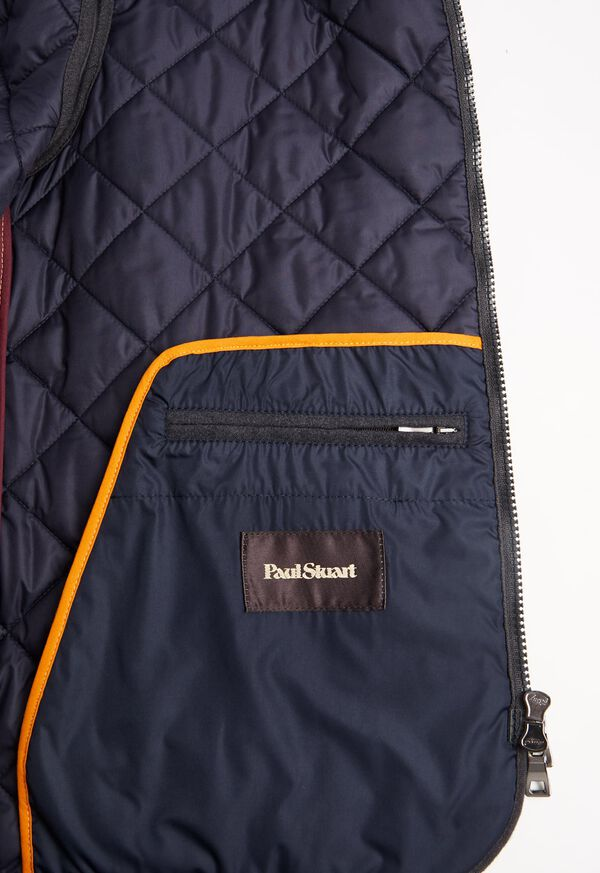 Merino Wool Flannel Quilted Vest, image 5
