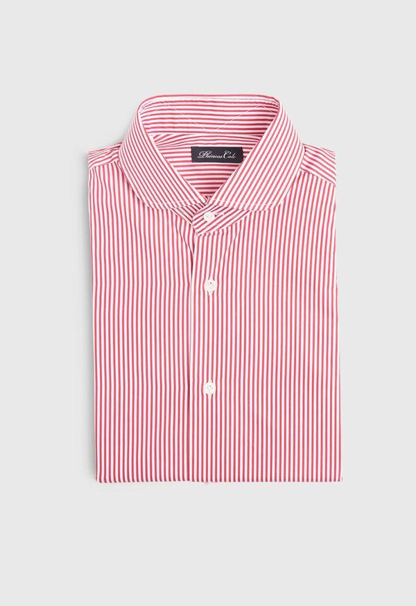 Stripe Round Collar Dress Shirt