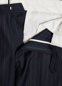 Navy Stripe Super 110s Wool Suit, thumbnail 6