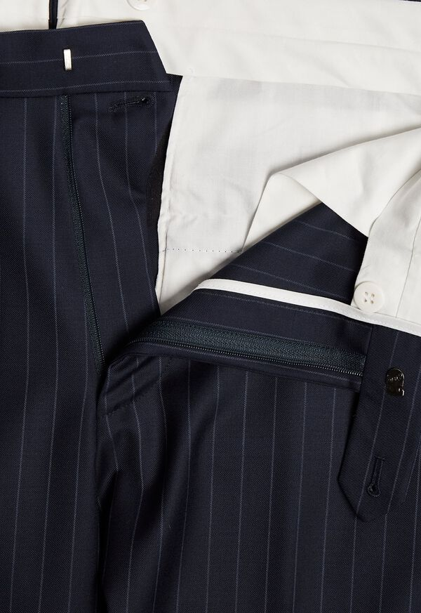 Navy Stripe Super 110s Wool Suit, image 6