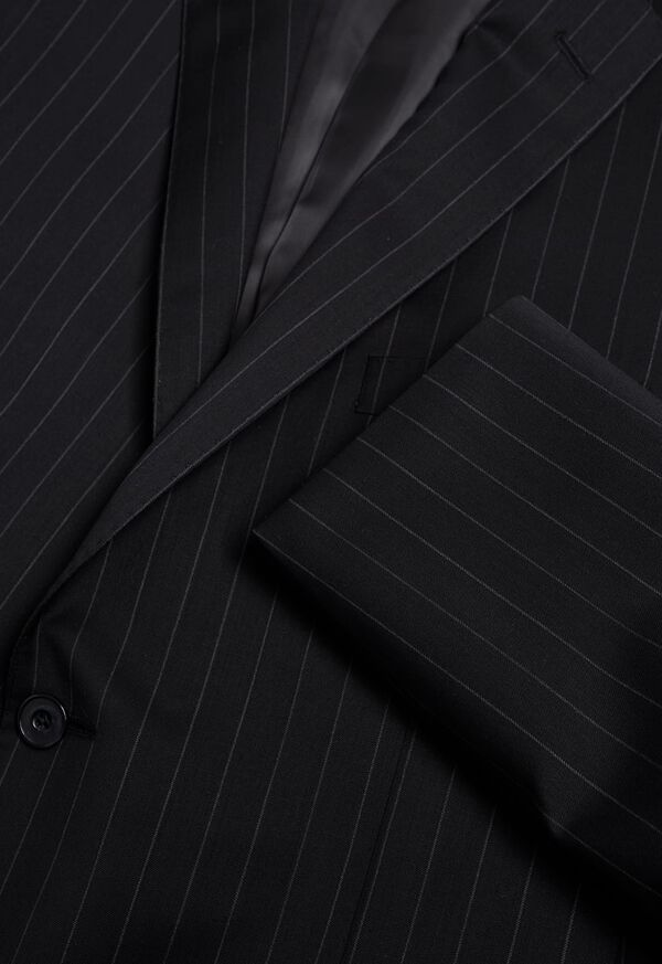 Black and White Chalk Stripe Suit, image 2