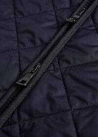 Nylon Quilted Vest with Piping, thumbnail 2