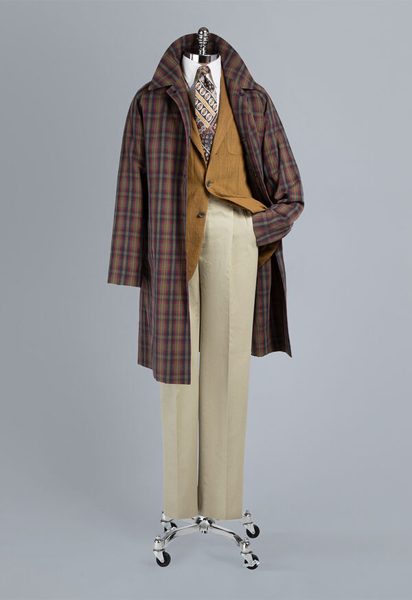 Plaid Trench Coat, image 3