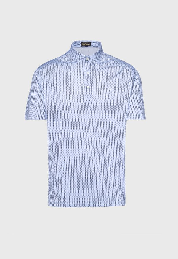 Neat Printed Performance Polo, image 1