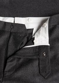 Flannel Wool Blend Charcoal Trouser, thumbnail 2