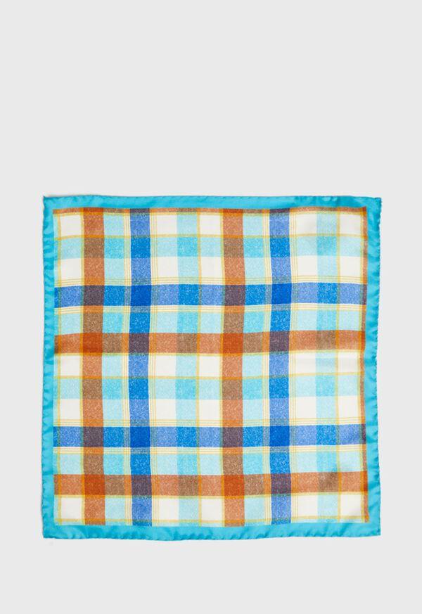 Multi Plaid Pocket Square, image 2