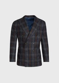 Double Breasted Plaid Blazer, thumbnail 1