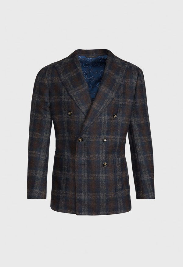Double Breasted Plaid Blazer, image 1