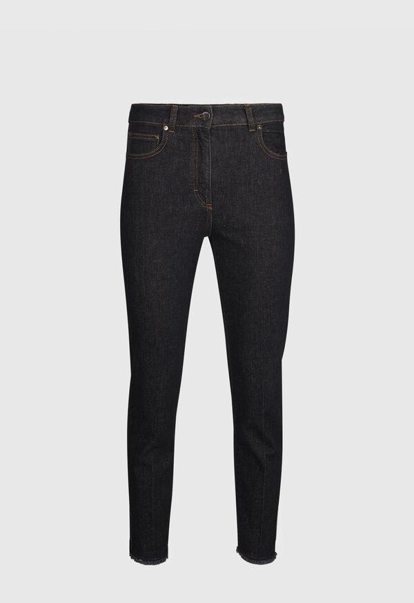 Dark Wash Jeans with Split Cuff