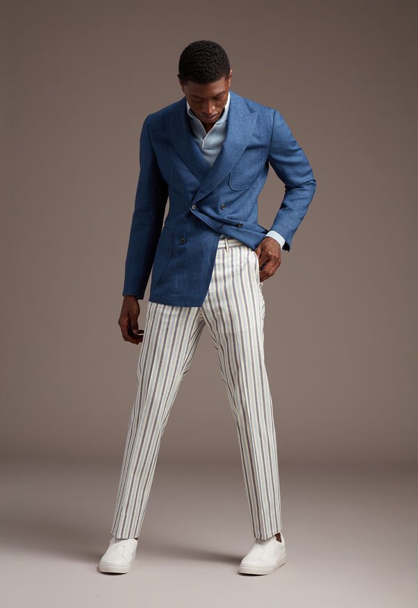Blue Linen Jacket, image 3