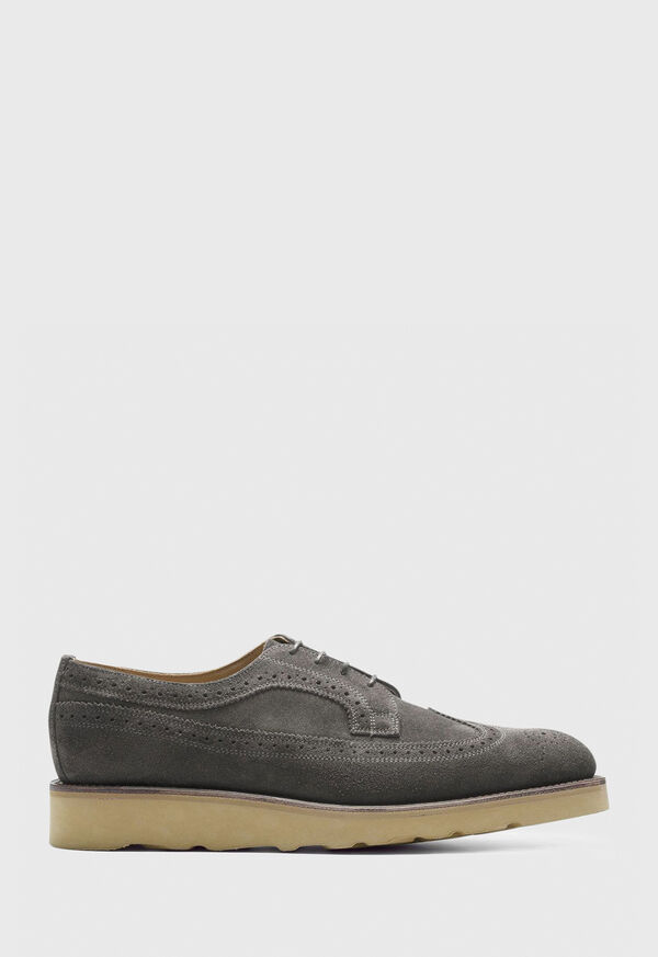 Monaco Suede Wingtip Lace-Up, image 1