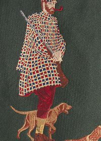 Hunting Man and Dog Silk Tie, thumbnail 3