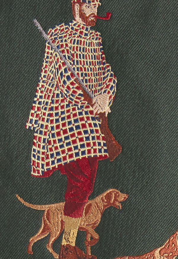 Hunting Man and Dog Silk Tie, image 3