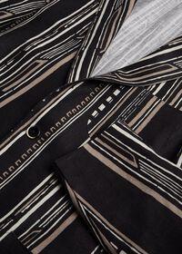 Black and Tan Linen Stripe Jacket, thumbnail 3